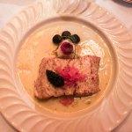 Pan Seared Meuniere Sturgeon Supreme Piment d'Espelette Beurre Blanc, Herruga Caviar, Potato Ris