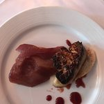 Foie Gras with poached pear