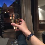 Complimentary glass of prosecco with a view over Matterhorn!