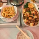 Szechuan vegetables, Mapo Tofu and Black Bean vegetables