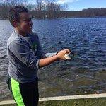 Fish caught on lake.