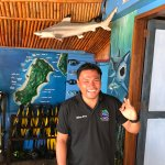 Andrew my diving guide, super amazing man. He gets to see the sharks while I only see nudibranch