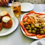 bombas de la Barceloneta y variado