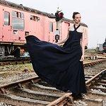 Fashion photoshoot at Ludborough station