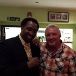 Tony Claudios pal with Tommy Hearns, we will be in business soon, just a bit of luck needed