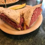 The corned beef was good rye bread not the best