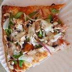 Delicious veggie Pizza at Vivaldi's
