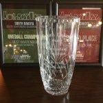 Adam Overall Best Bartender South Dakota Trophy, 2nd in original cocktail