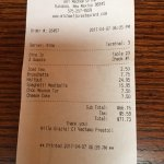 Total for dinner with deserts