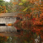 The Vermont Covered Bridge in fall