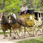 The stagecoach at Old Sturbridge Village