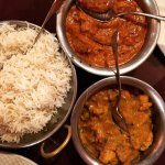 Garlic Chicken and Aloo Gobi