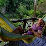 Hammock on the veranda of our cottage.