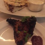 Lamb chops from the tandoor oven with garlic naan