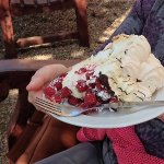 One - yes, one - portion of raspberry pavlova!! Share.