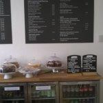 menu and cakes