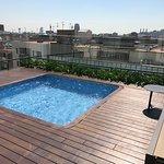 Privata poolen på takterrassen.