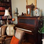 Tinkle the ivories on our circa 1850's piano