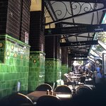 Great ole Irish Pub with market outside on the weekends
