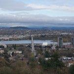 Portland cityview from the balcony of OSHU hospital.