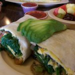 Veggie breakfast buritto