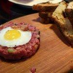 Steak Tartara Piemontese — wagyu beef with hazelnuts & black truffle