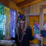 Another one of thos masked girls at Mardi Gras
