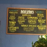 Awful Arthur's menu board