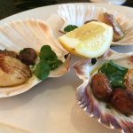 Queen scallops with chorizo