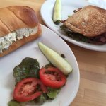 Chicken salad sandwich, BLT