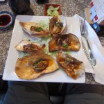 Excellent grilled oysters