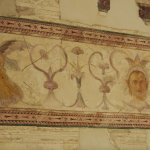"""Part of a fresco in Augustus' """"study"""""""