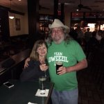 Da wife and I. That's a green Team Dweezil (Zappa) shirt for St. Patrick's day.