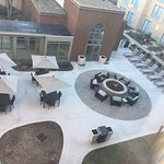 The courtyard and fire pit.