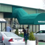 Entrance to the Voyageur Restaurant