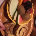 Home style French toast with fruit.