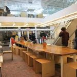 Inside Clover Food Lab in Harvard Square