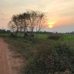 sunset on the way back to Chian Rai