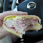 Cuban sandwich eaten at a rest area en route back home