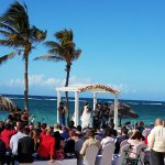 A beautiful beach wedding at Club Havana