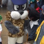This was during a Father's Day 5K Event . Slugger's Father lol