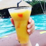 Mocktail from the public pool on Island next to hotel