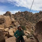 Our guide Sabra belaying