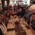 Friends having dinner at Miramar Bistro in Highwood.
