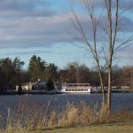 The Genesee Belle cruises Mott Lake in the summer and fall and also for luncheon cruises!