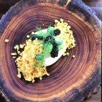 Cuttlefish, king brown mushroom, miso and sake cream, citrus kosho, wakame