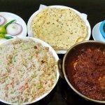 Chicken Polaw with Chicken do peyaja and masalla papad