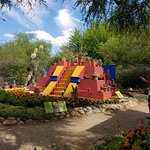 This is a temporary Frida Kahlo/ Diego Rivera garden exhibit that will end in May 2017.