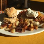 Biscuits, home fries, and black bean breakfast burrito 1/10/2015