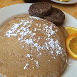 Honey Wheat Pancakes with sausage 3/7/2015